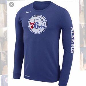 Nike Men's Philadelphia 76ers Dri-FIT Long Sleeve